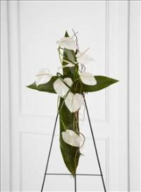 The FTD® Living Cross™ Easel by US Funeral Flowers