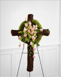 The FTD® Loveliness™ Celtic Cross by US Funeral Flowers