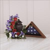Patriotic Tribute Arrangement by US Funeral Flowers