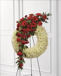 Graceful Tribute Wreath by US Funeral Flowers