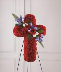 Living Cross Easel by US Funeral Flowers