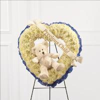 Precious Child Standing Heart by US Funeral Flowers