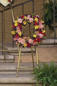 Mixed Wreath by US Funeral Flowers