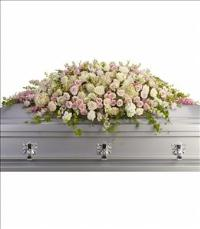 Always Adored Casket Spray by US Funeral Flowers
