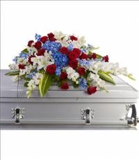 Distinguished Service Casket Spray by US Funeral Flowers