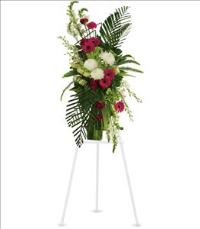 Gerberas and Palms Spray by US Funeral Flowers