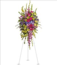 Bright and Beautiful Spray by US Funeral Flowers