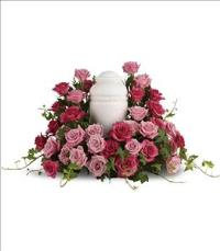 Bed of Pink Roses by US Funeral Flowers