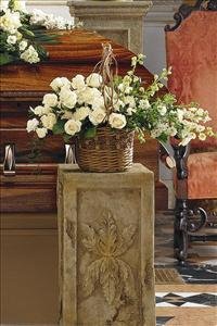 Small Wicker Basket by US Funeral Flowers