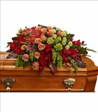 A Fond Farewell Casket Spray by US Funeral Flowers