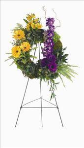 Mixed Flower Wreath by US Funeral Flowers