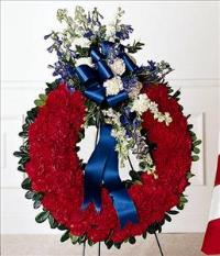 All American Tribute™ Wreath by US Funeral Flowers