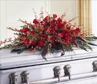 Deeply Adored Casket Spray by US Funeral Flowers