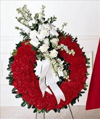Patriotic Tribute Wreath by US Funeral Flowers