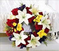 Encircling Grace Casket Adornment by US Funeral Flowers