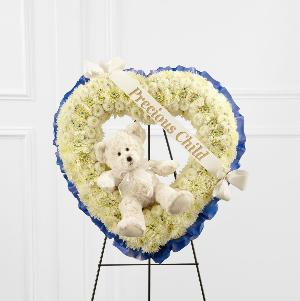 The FTD® Precious Child™ Standing Heart by US Funeral Flowers