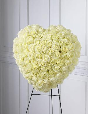 The FTD® Elegant Remembrance™ Standing Heart by US Funeral Flowers