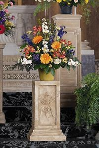 Fan Shape in Bright Colors by US Funeral Flowers