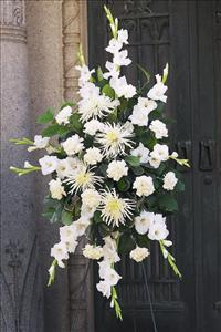All-White Spray by US Funeral Flowers