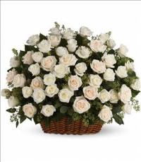 Bountiful Rose Basket by US Funeral Flowers