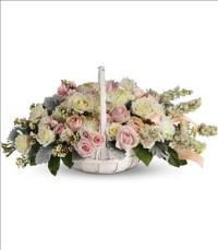 Dawn of Remembrance Basket by US Funeral Flowers