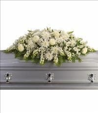 Enduring Light Casket Spray by US Funeral Flowers