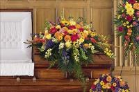 Celebration Of Life Casket Spray by US Funeral Flowers