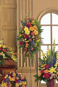 Double-Ended Easel Spray by US Funeral Flowers