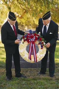 Red, White & Blue Wreath by US Funeral Flowers