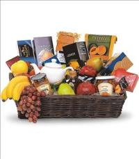 Grande Gourmet Fruit Basket by US Funeral Flowers