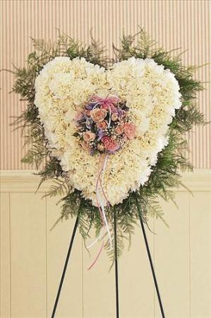 Solid Flower Heart by US Funeral Flowers