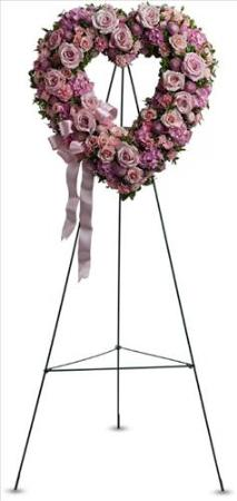 Rose Garden Heart by US Funeral Flowers